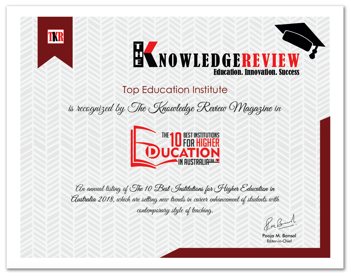 Top Education Institute.-Award